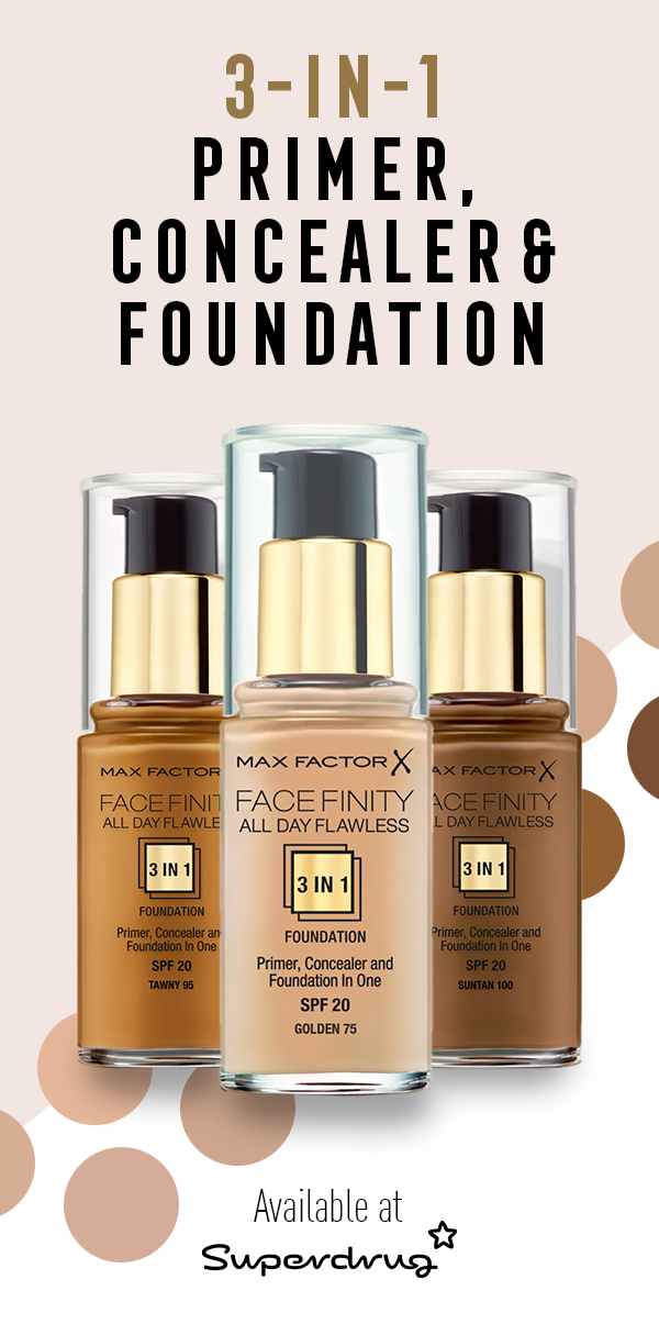Get an all day, flawless finish with Facefinity 3 in 1 Foundation ...