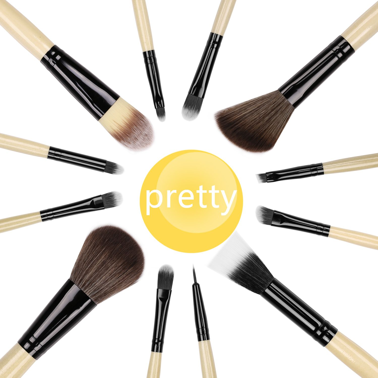 12Piece Docolor Makeup brushes ,all includes you need