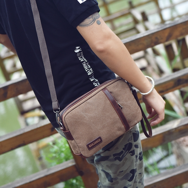 12.29$  Watch now - http://ali6m7.shopchina.info/go.php?t=32809443347 - Vintage Man Shoulder Bag Men Canvas Messenger Casual Shoulder Crossbody Small Bags for Men Mini Bags for Men Fashion 12.29$ #aliexpress