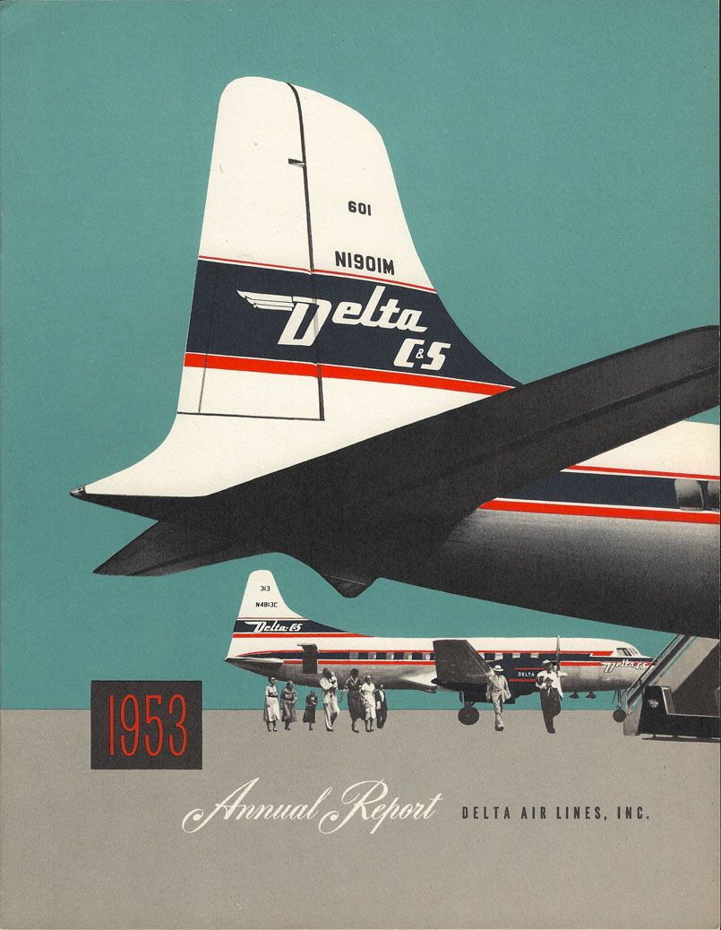 Delta Air Lines Annual Report 1953