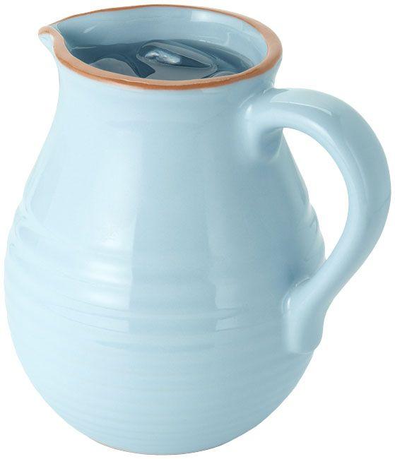 Jamie Oliver Terracotta Wasser Krug Pitcher Karaffe mit Lasur in ...