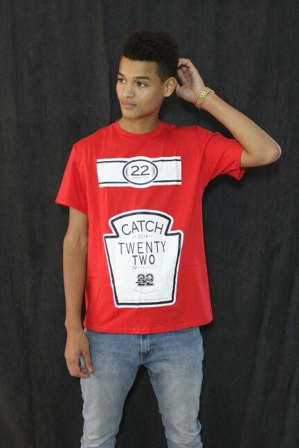 Red- CatchUp t-shirt @catchxxii.com