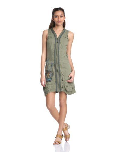 Desigual - Meryane Vestito, senza maniche, donna, Verde (Grün (Burnt Olive)), 48 IT (produttore: 44) Desigual  http://ebay.to/1Gku8uN