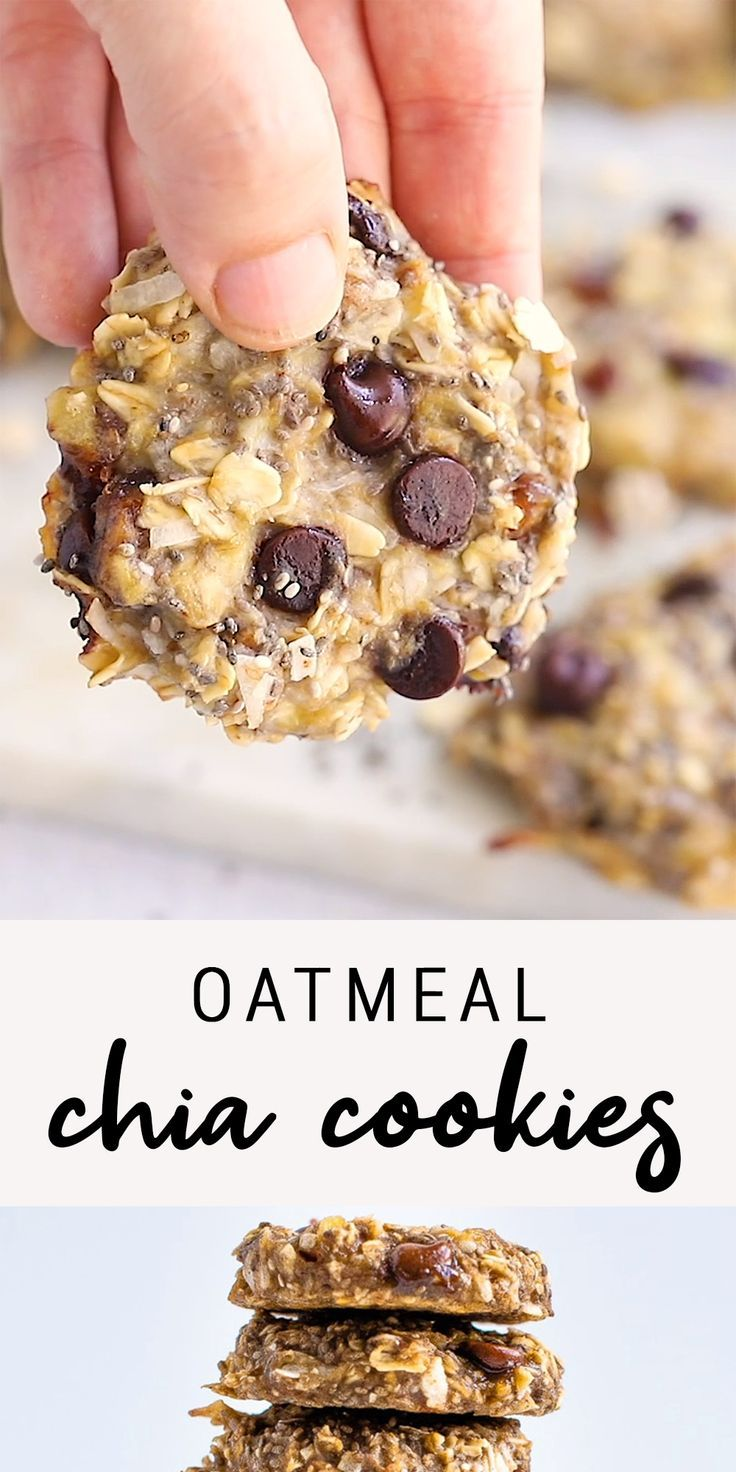 Oatmeal Chia Cookies | Eating Bird Food