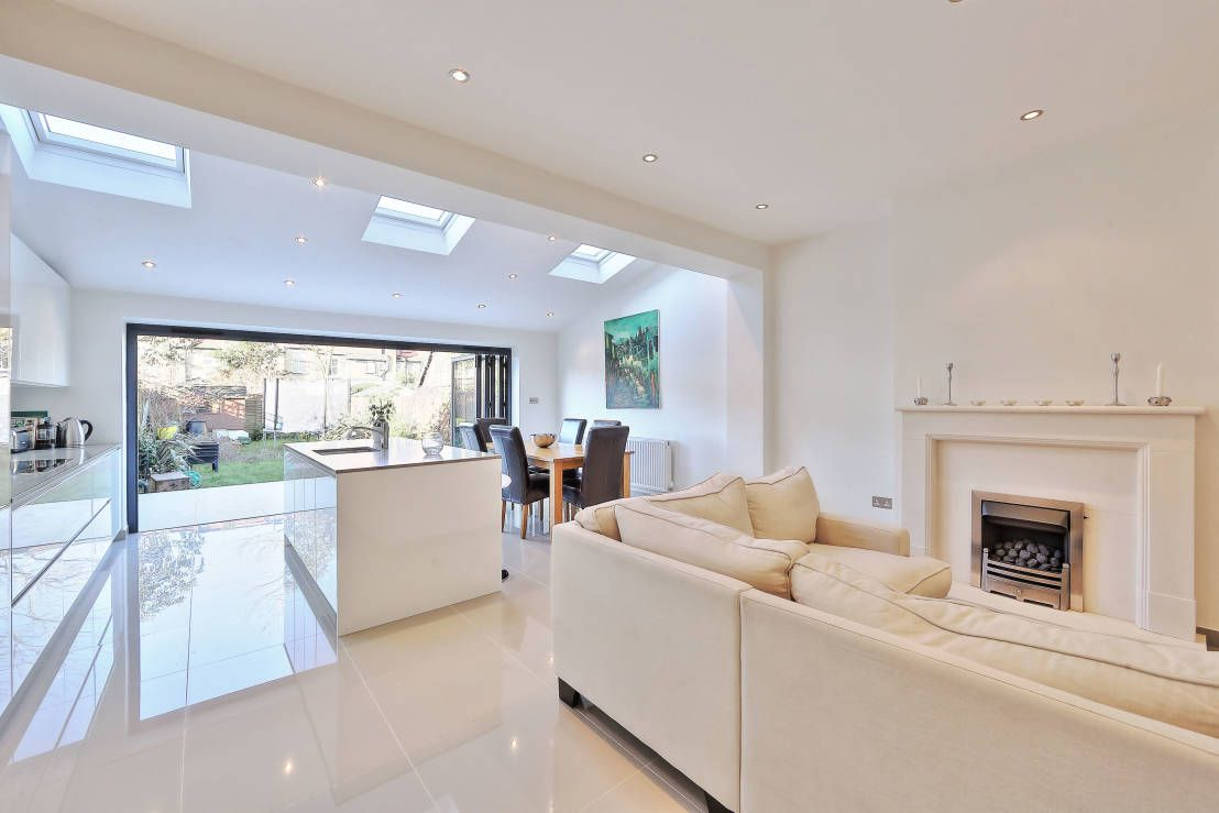 Kitchen Ideas Ealing.Kitchen Rear Extension Ealing With Pitched Roof Modern Kitchen By