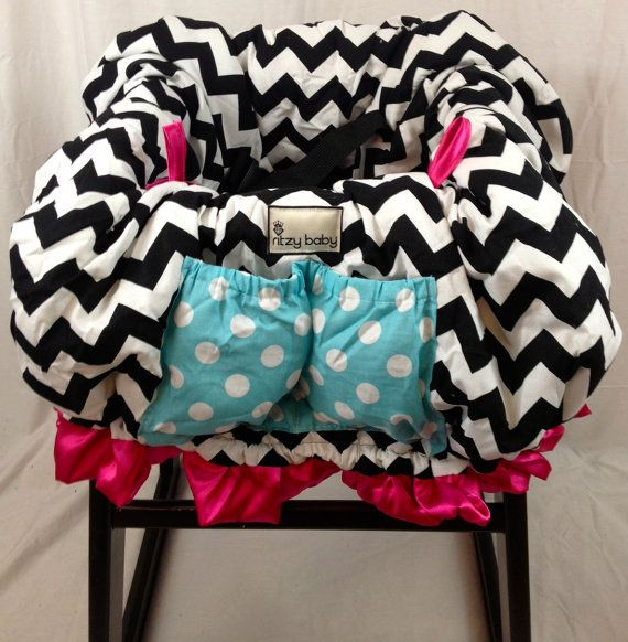 Baby Shopping Cart Cover, Restaurant High Chair Cover Padded And Made For  Up To Two