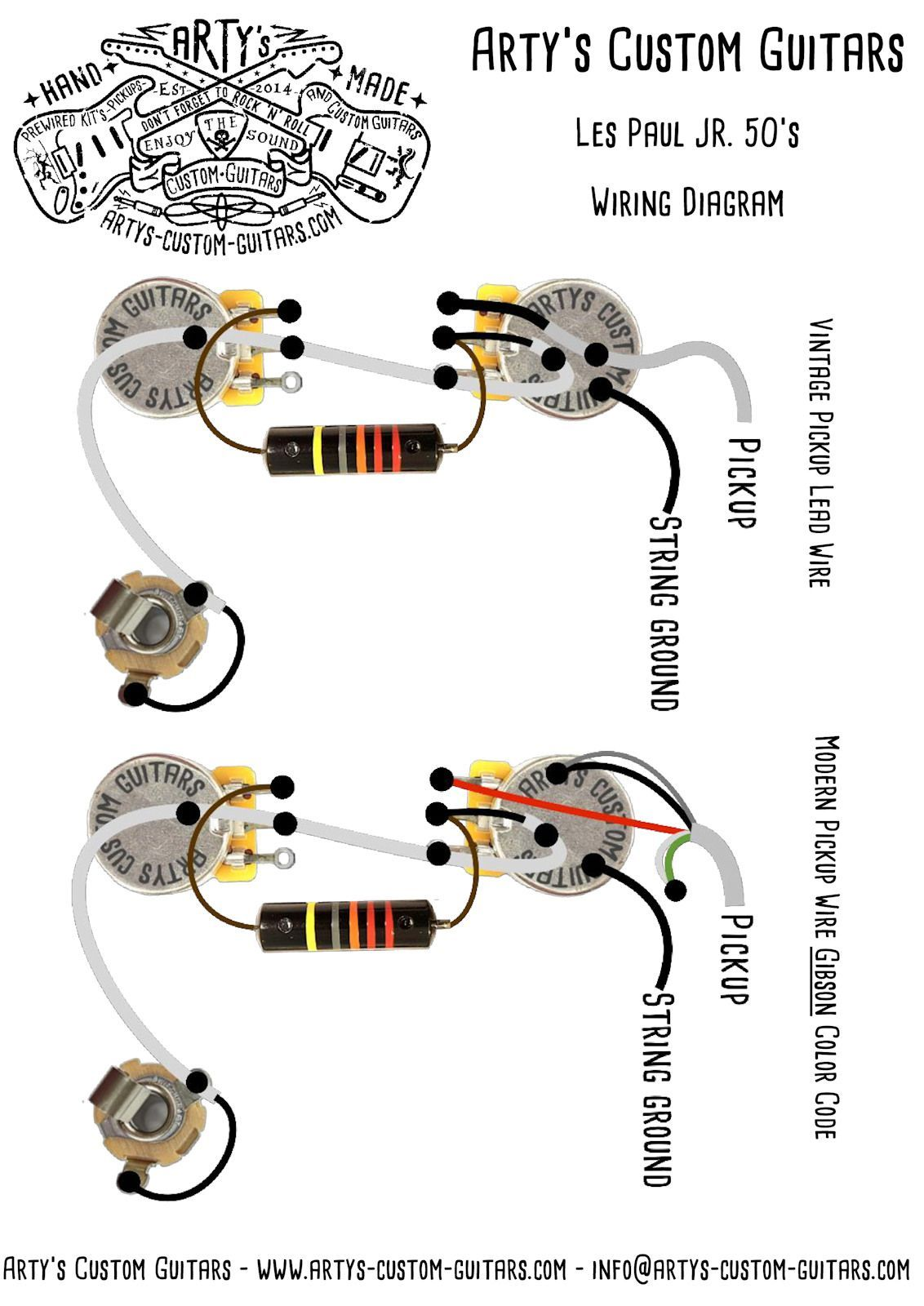 Les Paul Junior Prewired Kit Mit Bumblebee Caps Customguitars Wiring Diagram Les Paul Junior 50 S Prewired Kit Wiring Les Paul Les Paul Jr Gibson Les Paul Jr