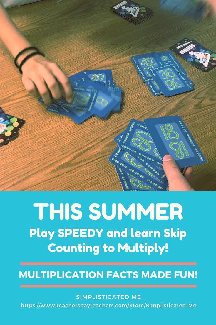 Speedy The Multiplication Card Game 6 Times Table Skip Counting Arrays Summer Math Activities Homeschool Programs Math Resources [ 1102 x 735 Pixel ]