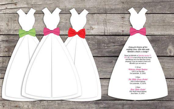 Wedding Dress Shopping Invitations Set Of 10 Wedding Dress Shopping Invitation Set Wedding