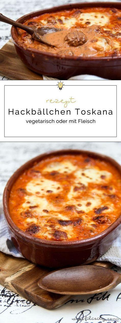 Hackbällchen Toskana (vegetarisch oder mit Fleisch) | Filizity.com