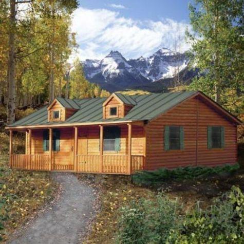 log cabin homes | ponderosa log home - spirit cabins modular log