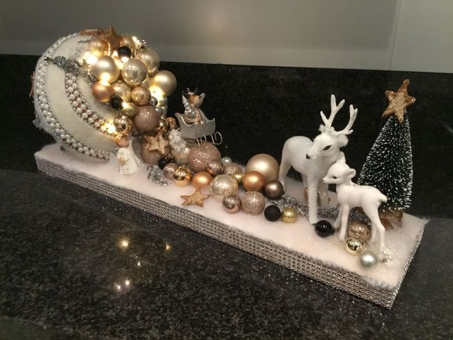 Kerststuk Bling Eigen Creatie Annelies Claeys Diy Christmas Gifts Pinterest Christmas Christmas Decorations And Xmas Christmas Arrangements Christmas Decorations Rustic Christmas Ornaments