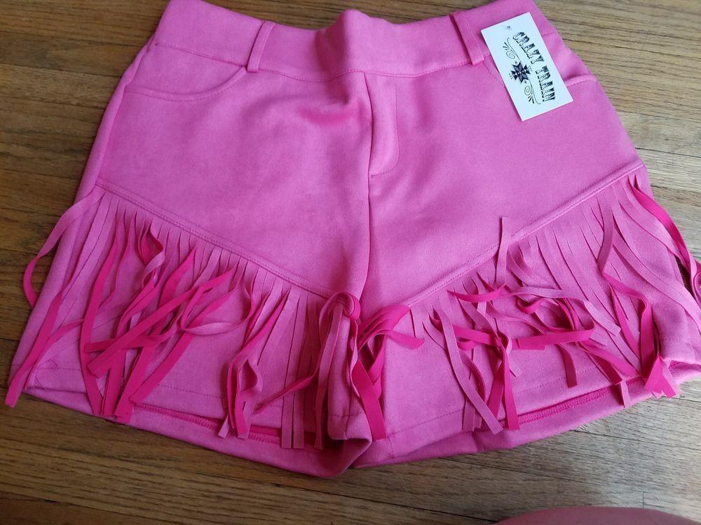Crazy Train Shorts Any Fringe Of Mine Pink Fringe Cowgirl Western