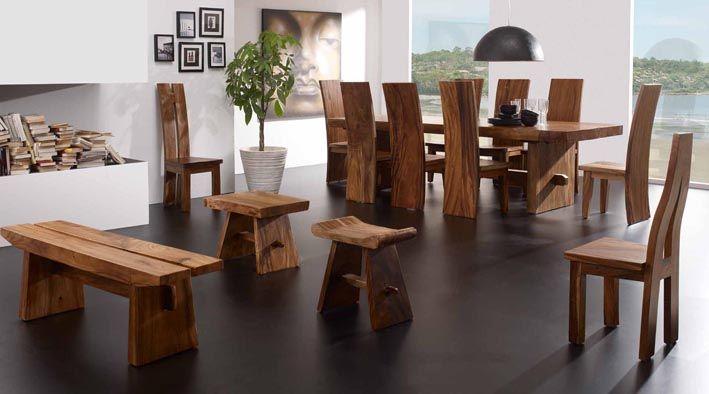 Mesas de comedor de madera suwar decoraci n beltr n tu - Decoracion mesa comedor ...