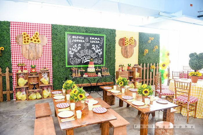 Minnie Mouse Sunflower Garden Party   Minnie birthday ...