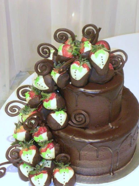 Chocolate Groom's Cake - Omaha Pastry