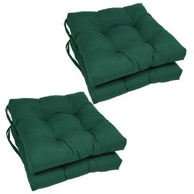 Andover Mills Outdoor Dining Chair Cushion Color: Forest Green