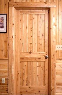 Pretty cedar door & Pretty cedar door | Interiors of Log Homes from Town \u0026 Country Homes ...