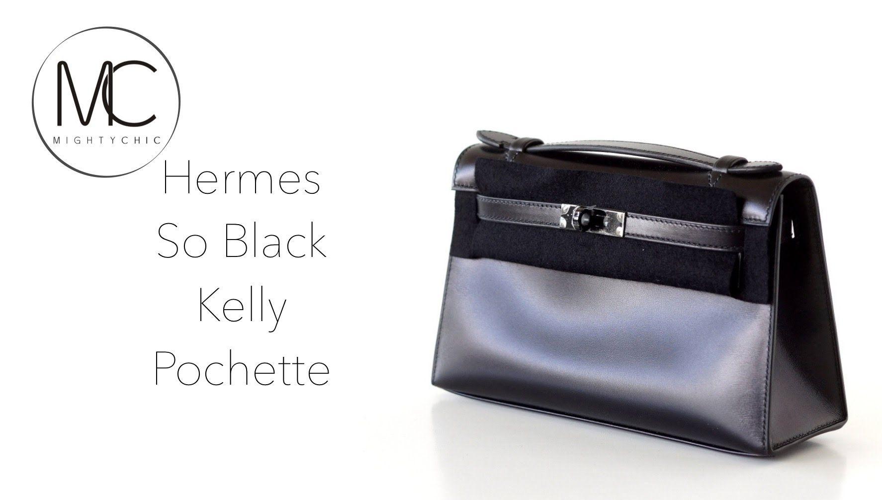 fb0a61517c69 Hermes SO BLACK KELLY Pochette • mightychic.com •