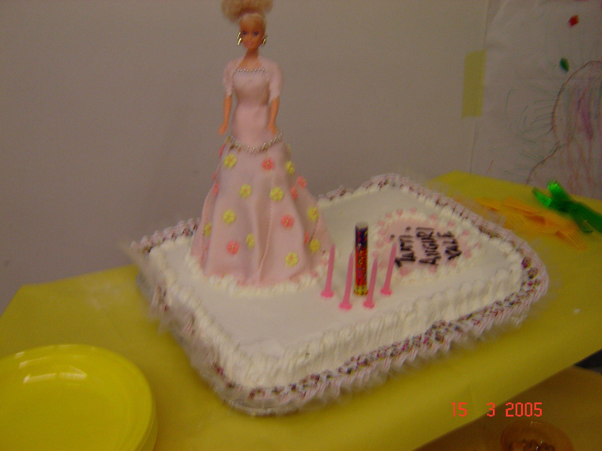 torta di compleanno di Barbie realizzata per il 5° compleanno della ...