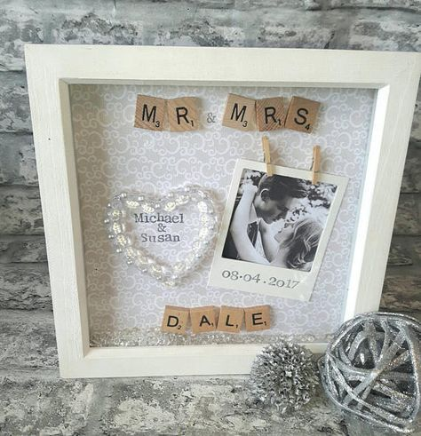 Wedding Frame, Anniversary Gift, Wedding Present, Personalised ...