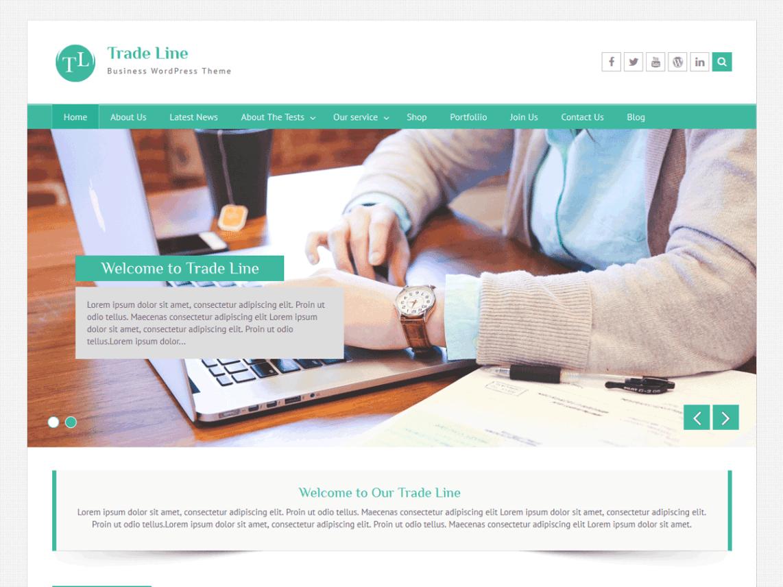 download free trade line wordpress theme wordpress template