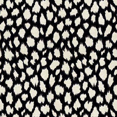 Click link to PURCHASE this fabric by the yard: https://1502fabrics.com/product/portfolio-textiles-amara-black/ Amara Black designer dot animal print by Kate Spade New York