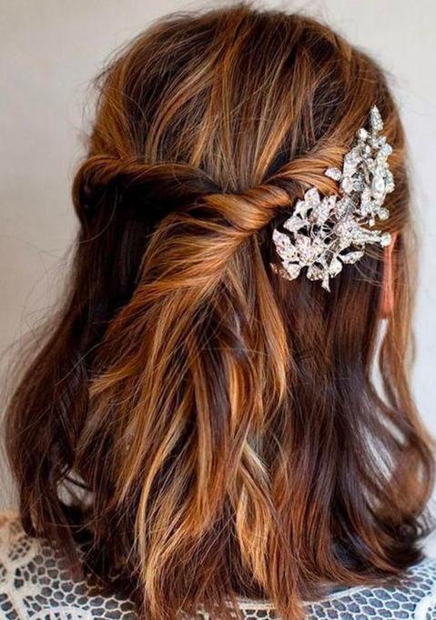 16+ Demi queue mariage coiffure le dernier