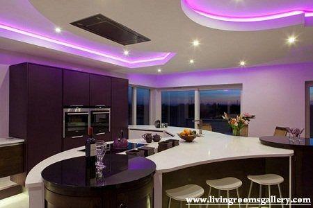 Unique False Ceiling Designs For Kitchen with LED lighting False - küche beleuchtung led