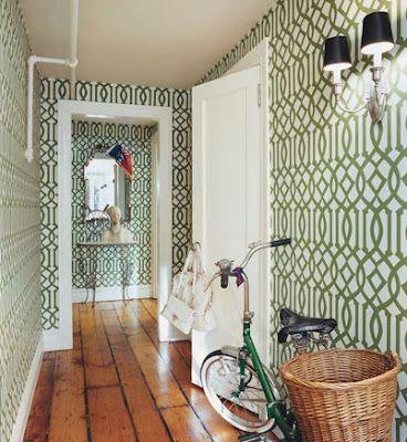 Hallway via Domino Magazine