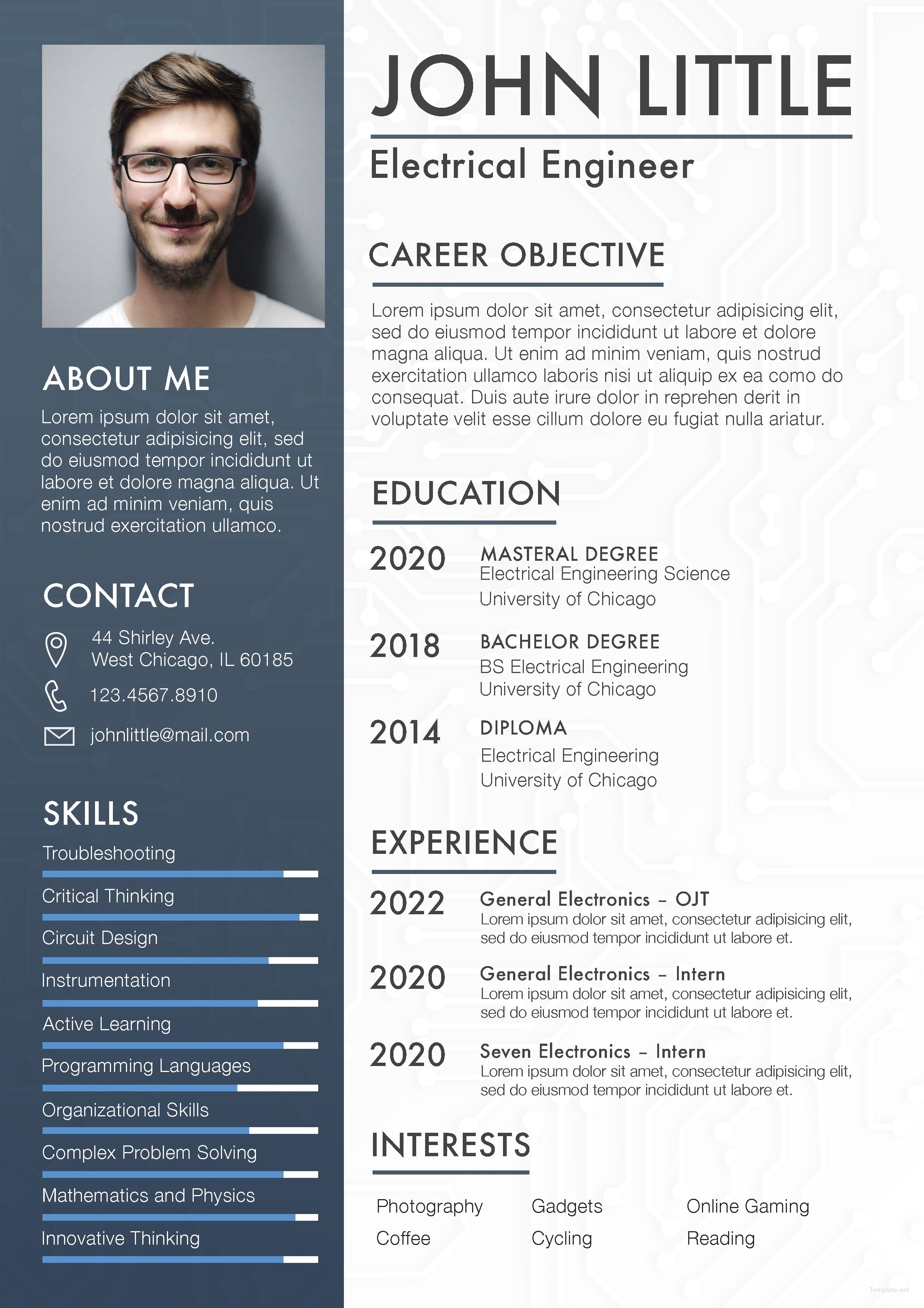 Free Electrical Engineer Fresher Resume Engineering Resume