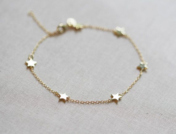 Star Bracelet Delicate Chain By Amandadeer On Etsy