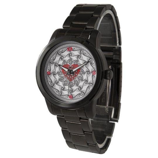 Montre bracelet noir LoveDesign | Zazzle.fr