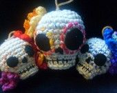 Crochet Day of the Dead skulls