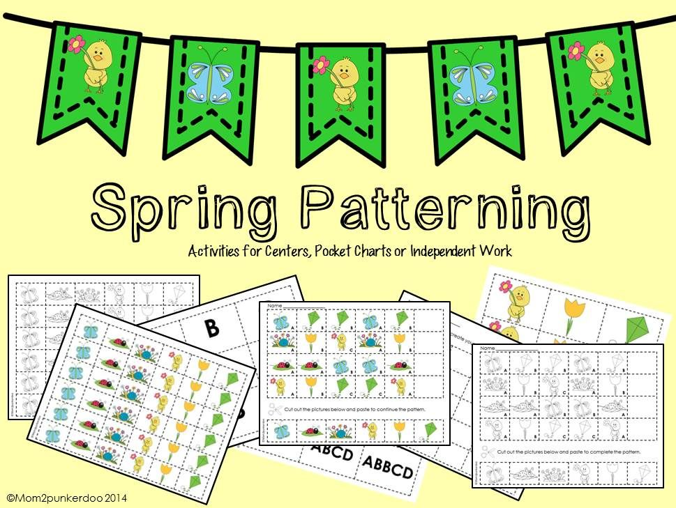 Spring Math Patterning Activities | Math, Activities and Spring
