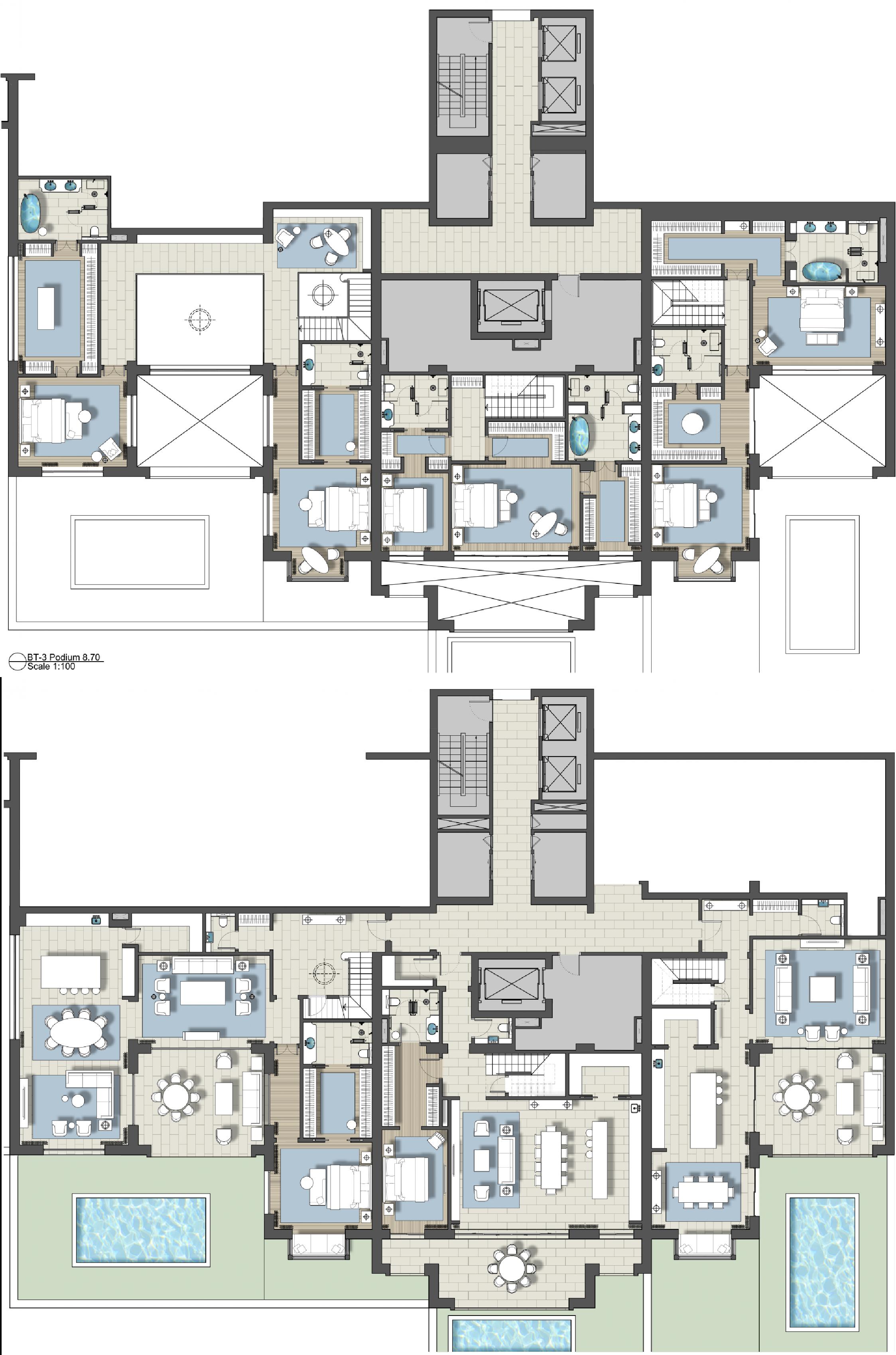 Architectural Designer At Ga Design International Hotel Floor Plan House Layout Plans Architectural Floor Plans
