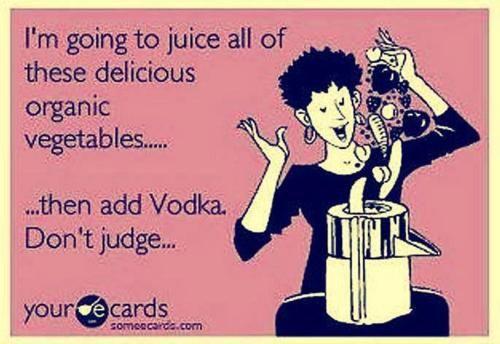 Juicing.