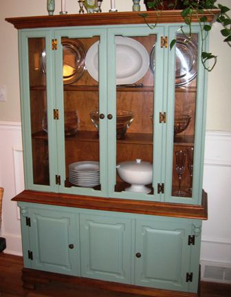 Finished China Cabinet Nice Idea For Those Ugly Built Ins Form The