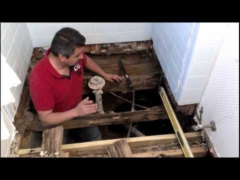 How To Repair A Bathroom Floor Structure YouTube BATHROOM - How to repair bathroom floor