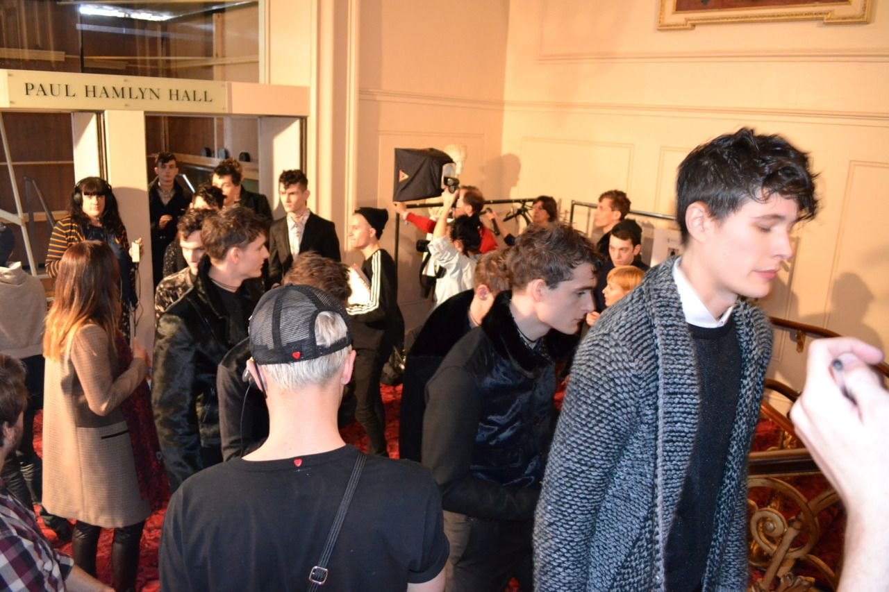 AW12 - Models arriving back from the runway