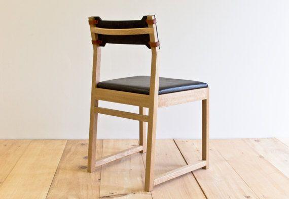 Amazing Tab Dining Chair White Oak Leather Back Products Creativecarmelina Interior Chair Design Creativecarmelinacom