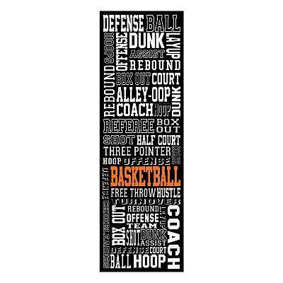 Basketball Typography Wall Decor Slang Basketball Room