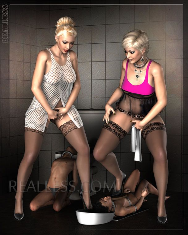 Alluring domination female slave has nice