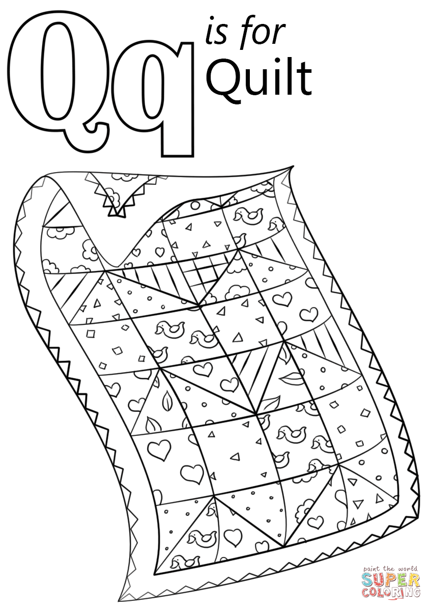 coloring pages q - letter q is for quilt coloring page from letter q category select from 27830 printable crafts