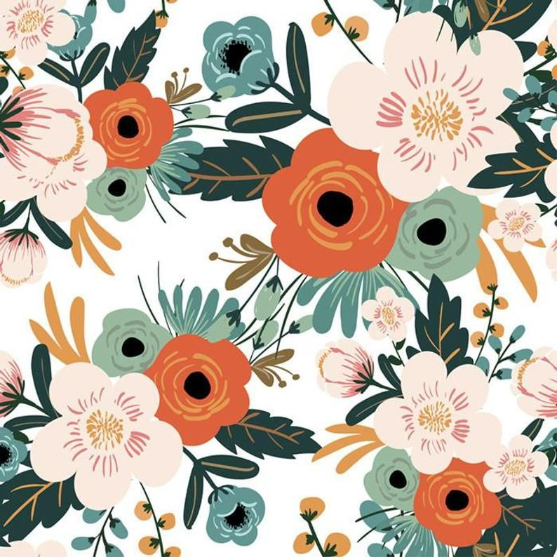 Vintage Floral Removable Wallpaper Temporary Wallpaper Etsy Floral Design Wallpaper Floral Wallpaper Temporary Wallpaper