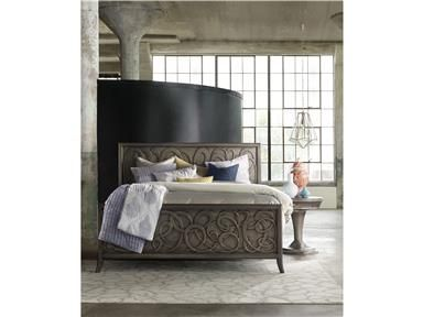 Shop For Hooker Furniture Affinity Panel Bed Queen, And Other Bedroom Beds  At LA Waters Furniture In Statesboro, GA. The Soft Swirl Design Of The  Affinity ...