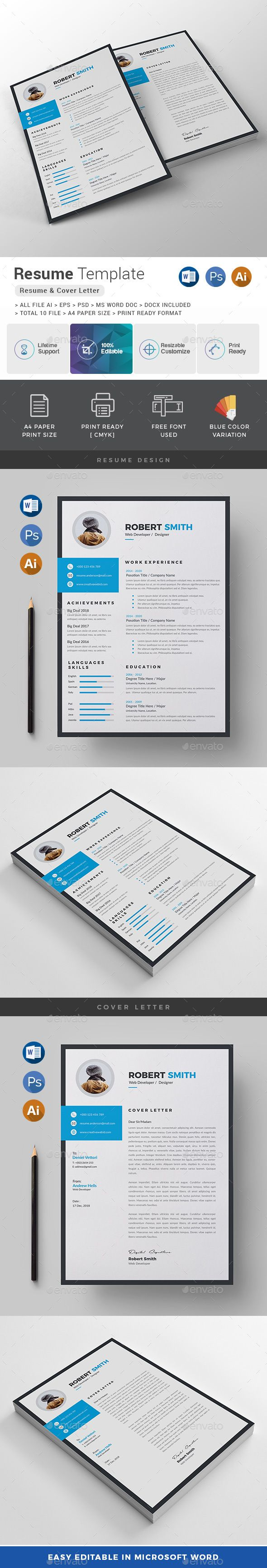 Resume Text Size Features Of Resume Template Color Versions A4 Paper Size With Bleeds .