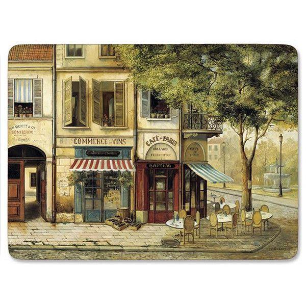 Pimpernel Set of 4 Rigid Placemats - Parisian Scene   Products ...