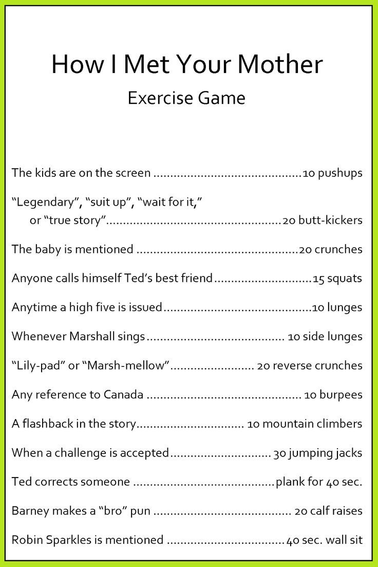 HIMYM Exercise Game