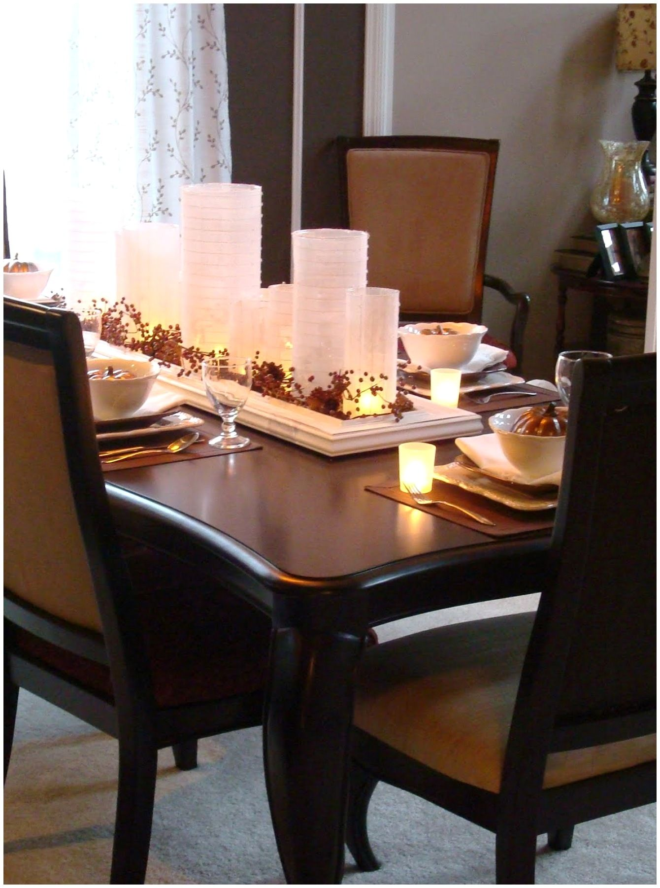 Attractive Centerpieces For Dining Room Tables To Create In 2021 Dining Table Centerpiece Dining Room Table Candle Centerpiece Dining Room Table Candles